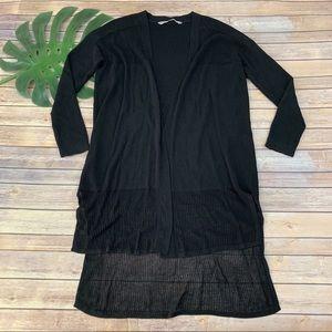 Athleta black open front cardigan sweater